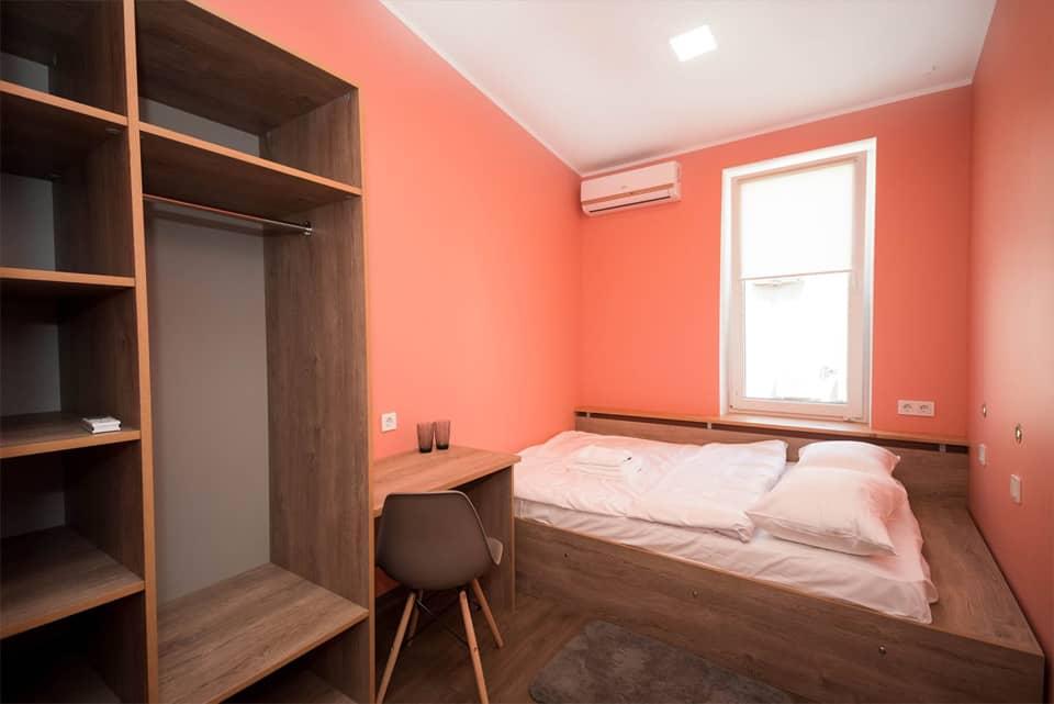 Цена хостела с двуспальной кроватью