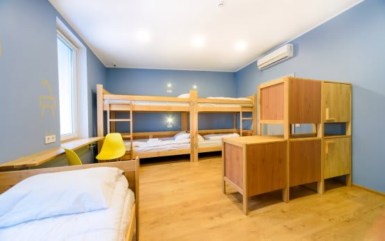 Shared rooms for 4, 5, 6, 7 and 8 people